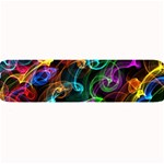 Rainbow Ribbon Swirls Digitally Created Colourful Large Bar Mats 34 x9.03 Bar Mat - 1