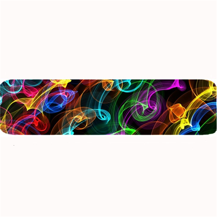 Rainbow Ribbon Swirls Digitally Created Colourful Large Bar Mats