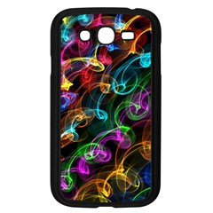 Rainbow Ribbon Swirls Digitally Created Colourful Samsung Galaxy Grand Duos I9082 Case (black) by Nexatart