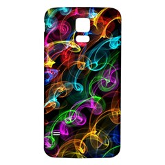 Rainbow Ribbon Swirls Digitally Created Colourful Samsung Galaxy S5 Back Case (white) by Nexatart
