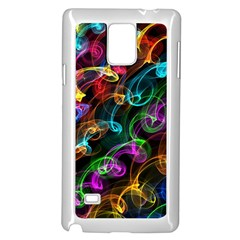 Rainbow Ribbon Swirls Digitally Created Colourful Samsung Galaxy Note 4 Case (white) by Nexatart