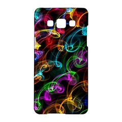 Rainbow Ribbon Swirls Digitally Created Colourful Samsung Galaxy A5 Hardshell Case  by Nexatart