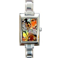 Abstract Pattern Texture Rectangle Italian Charm Watch by Nexatart