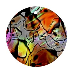 Abstract Pattern Texture Round Ornament (two Sides)