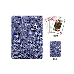 Aliens Music Notes Background Wallpaper Playing Cards (mini)  by Nexatart