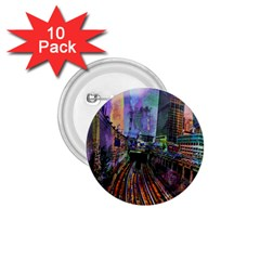 Downtown Chicago City 1 75  Buttons (10 Pack) by Nexatart