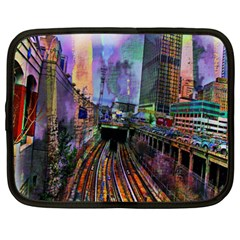 Downtown Chicago City Netbook Case (xxl)  by Nexatart