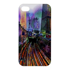 Downtown Chicago City Apple Iphone 4/4s Premium Hardshell Case