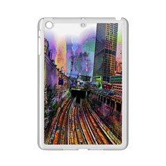 Downtown Chicago City Ipad Mini 2 Enamel Coated Cases by Nexatart