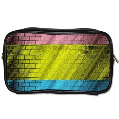 Brickwall Toiletries Bags 2 Side by Nexatart