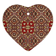 Seamless Pattern Based On Turkish Carpet Pattern Heart Ornament (two Sides) by Nexatart