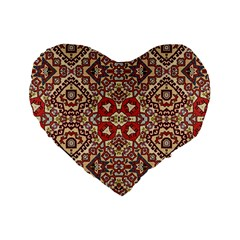 Seamless Pattern Based On Turkish Carpet Pattern Standard 16  Premium Heart Shape Cushions