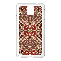 Seamless Pattern Based On Turkish Carpet Pattern Samsung Galaxy Note 3 N9005 Case (white) by Nexatart