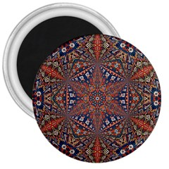 Armenian Carpet In Kaleidoscope 3  Magnets by Nexatart