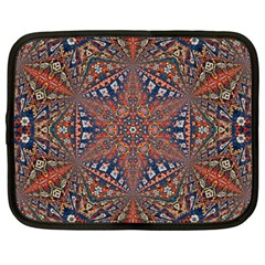 Armenian Carpet In Kaleidoscope Netbook Case (large) by Nexatart
