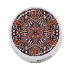 Armenian Carpet In Kaleidoscope 4 Port Usb Hub (one Side)