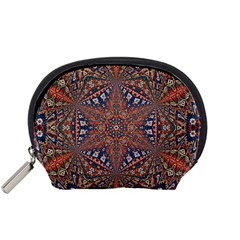 Armenian Carpet In Kaleidoscope Accessory Pouches (small)  by Nexatart