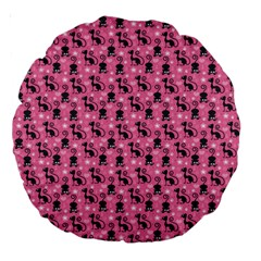 Cute Cats I Large 18  Premium Round Cushions