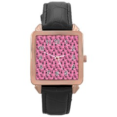Cute Cats I Rose Gold Leather Watch