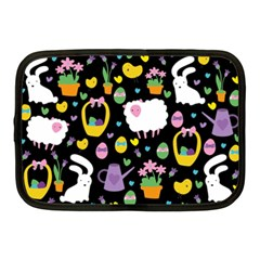 Cute Easter Pattern Netbook Case (medium)  by Valentinaart