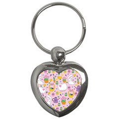 Cute Easter Pattern Key Chains (heart)  by Valentinaart
