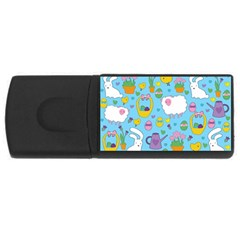Cute Easter Pattern Usb Flash Drive Rectangular (4 Gb) by Valentinaart