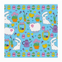 Cute Easter Pattern Medium Glasses Cloth (2 Side) by Valentinaart