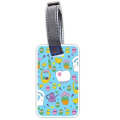 Cute Easter Pattern Luggage Tags (one Side)  by Valentinaart