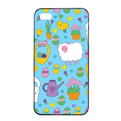 Cute Easter Pattern Apple Iphone 4/4s Seamless Case (black) by Valentinaart