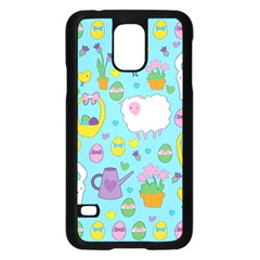 Cute Easter Pattern Samsung Galaxy S5 Case (black) by Valentinaart