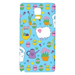 Cute Easter Pattern Galaxy Note 4 Back Case by Valentinaart