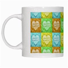 Colorful Happy Easter Theme Pattern White Mugs by dflcprints
