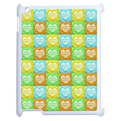 Colorful Happy Easter Theme Pattern Apple Ipad 2 Case (white) by dflcprints