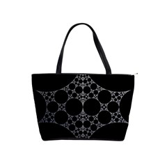 Drawing Of A White Spindle On Black Shoulder Handbags