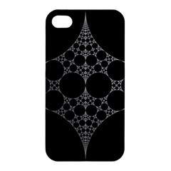Drawing Of A White Spindle On Black Apple Iphone 4/4s Premium Hardshell Case