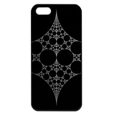 Drawing Of A White Spindle On Black Apple Iphone 5 Seamless Case (black) by Nexatart