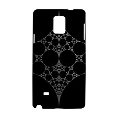 Drawing Of A White Spindle On Black Samsung Galaxy Note 4 Hardshell Case by Nexatart