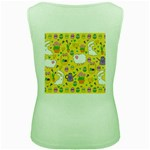Cute Easter pattern Women s Green Tank Top Back