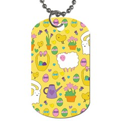 Cute Easter Pattern Dog Tag (one Side) by Valentinaart