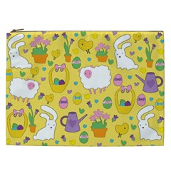 Cute Easter Pattern Cosmetic Bag (xxl)  by Valentinaart