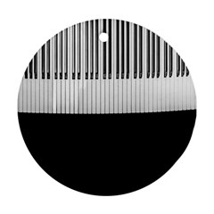 Piano Keys On The Black Background Ornament (round)