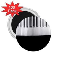 Piano Keys On The Black Background 2 25  Magnets (100 Pack)  by Nexatart