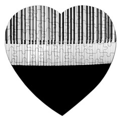 Piano Keys On The Black Background Jigsaw Puzzle (heart) by Nexatart
