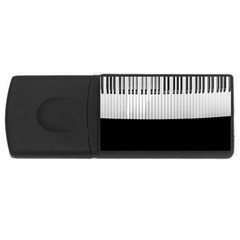 Piano Keys On The Black Background Usb Flash Drive Rectangular (4 Gb) by Nexatart