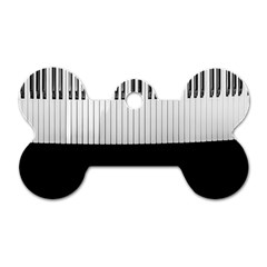 Piano Keys On The Black Background Dog Tag Bone (two Sides) by Nexatart
