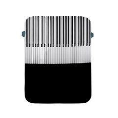 Piano Keys On The Black Background Apple Ipad 2/3/4 Protective Soft Cases by Nexatart