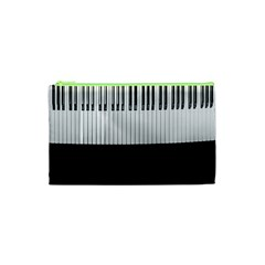 Piano Keys On The Black Background Cosmetic Bag (xs) by Nexatart