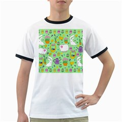 Cute Easter Pattern Ringer T Shirts by Valentinaart