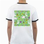 Cute Easter pattern Ringer T-Shirts Back