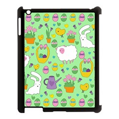 Cute Easter Pattern Apple Ipad 3/4 Case (black) by Valentinaart